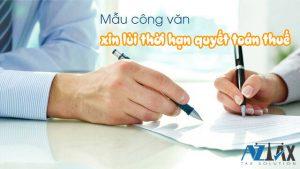 công văn xin lùi thời hạn quyết toán thuế