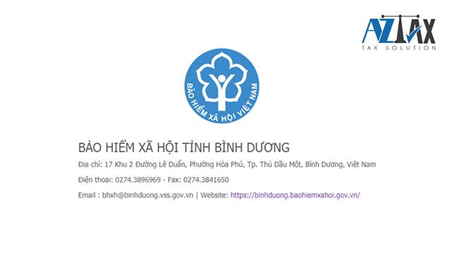 Thông tin liên hệ Bảo hiểm xã hội tỉnh Bình Dương