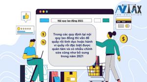 Điều chỉnh nội quy lao động 2021