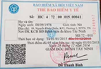 Không ghi ngày hết hạn sử dụng trên thẻ BHYT