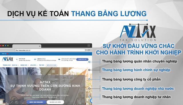 Dịch vụ xây dựng thang bảng lương AZTAX