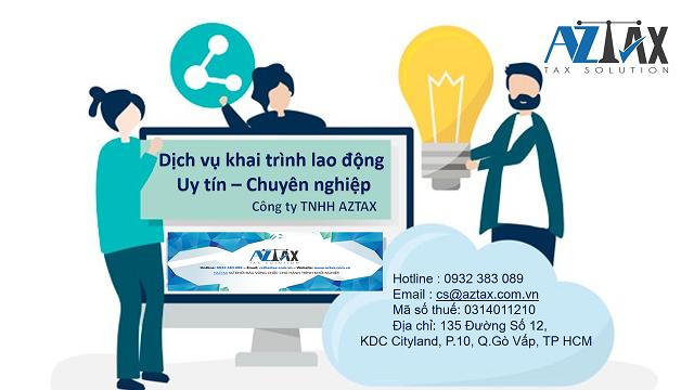 Dịch vụ khai trình lao động AZTAX
