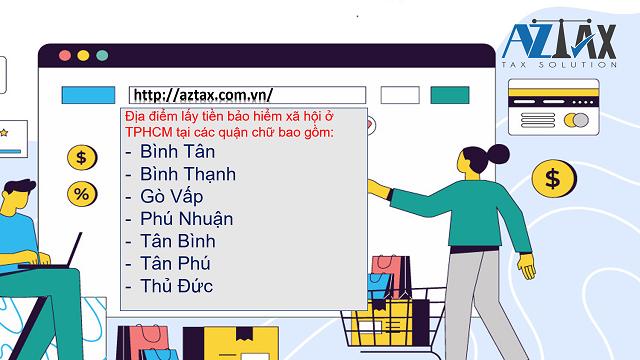 Địa điểm lấy tiền BHXH tại các quận chữ