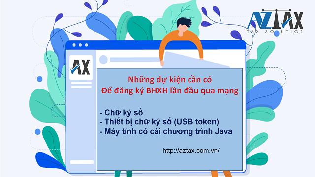 Quy trình đăng ký BHXH qua mạng