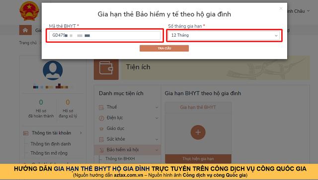 Hướng dẫn gia hạn BHYT online - Bước 12