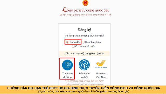 Hướng dẫn gia hạn BHYT online - Bước 3