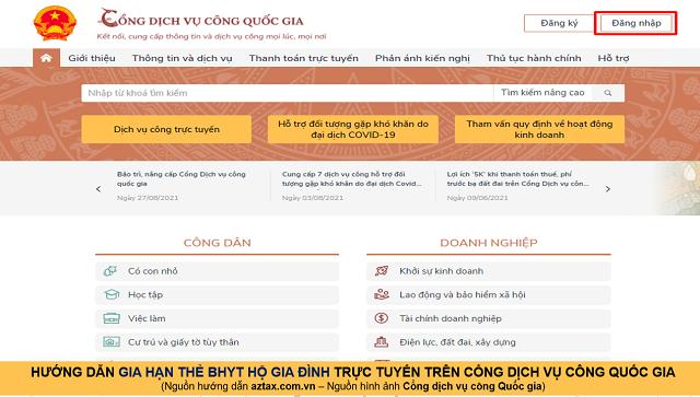 Hướng dẫn gia hạn BHYT online - Bước 6