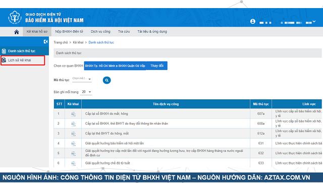 Làm hồ sơ BHXH 1 lần trực tuyến - Bước 10