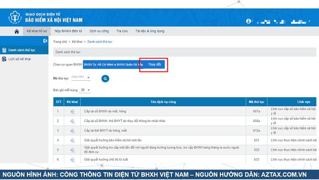Làm hồ sơ BHXH 1 lần trực tuyến - Bước 5
